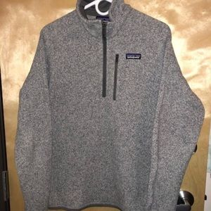 Men's PATAGONIA better sweater pullover 1/4 zip.
